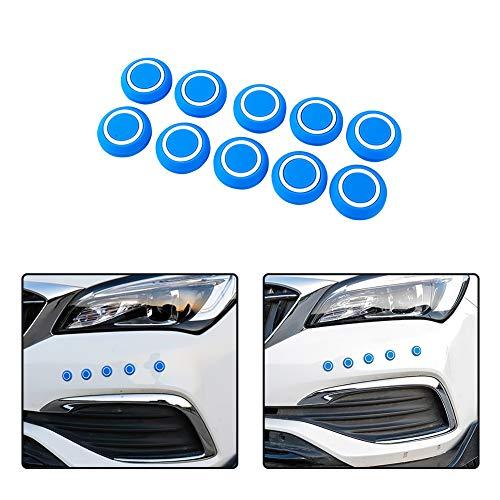 (idain 10 PCS Universal Fit Car Bumper Guard Protector Dot Shape Sticker Anti-rub Front Rear Bumper Protector,Blue)