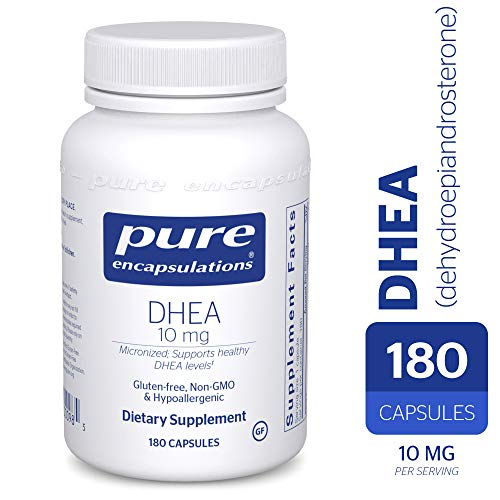 Pure Encapsulations - DHEA (Dehydroepiandrosterone) 10 mg - Micronized Hypoallergenic Supplement - 180 Capsules (Best Exercise For Panic Attacks)