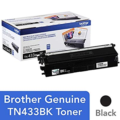 Brother Printer TN433BK High Yield Toner-Retail Packaging , Black