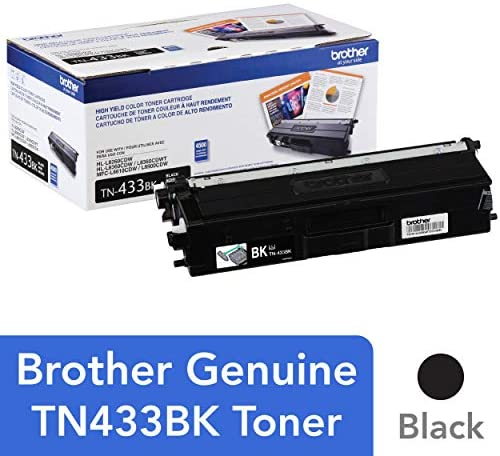 Brother Printer TN433BK Toner Retail Packaging