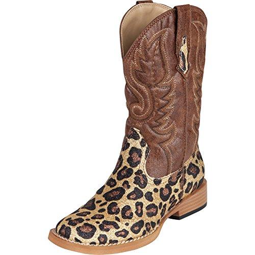 Roper Glitter Square Toe Cowgirl Boot (Infant/Toddler/Lit...