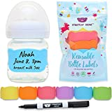 #8: Baby Bottle Labels for Daycare, 6 Pcs (Multi-Color)