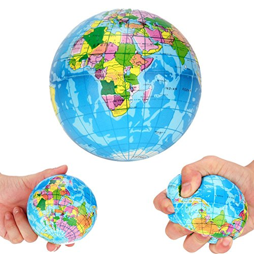 yunbox299 Squishy Squeeze World Map Globe Palm Ball Slow Rising Stress Reliever Kids Toys 10cm