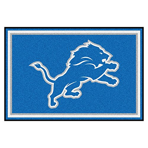 Lion 8' Plush (FANMATS NFL Detroit Lions Nylon Face 5X8 Plush Rug)