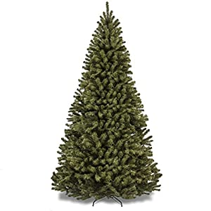 Best Choice Products 9ft Premium Spruce Hinged Artificial Christmas Tree w/Easy Assembly, Foldable Stand - Green 103