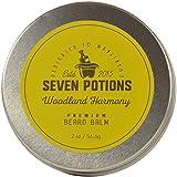 Seven Potions Beard Balm 2 oz. 100% Natural, Organic with Jojoba Oil. Makes Your Beard Soft, Stops Beard Itch, Leaves it Nourished, Naturally Shiny & Healthy (Woodland Harmony)
