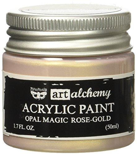 Prima Marketing 963620 Finnabair Art Alchemy Acrylic Paint, 1.7 fl. oz, Opal Magic Rose/Gold
