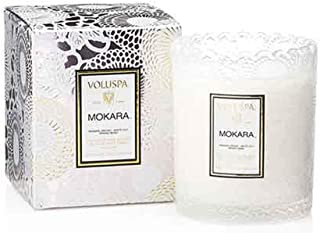 product image for Voluspa Mokara Scalloped Edge Boxed Glass Candle, 6.2 Ounces