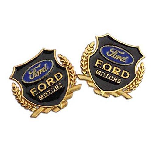 2pcs Set B431 Car Styling Accessories Chromed Emblem Badge Decal Sticker Side Logo MOTORS VIP FORD FOCUS FIESTA FUSION ESCATE EDGE