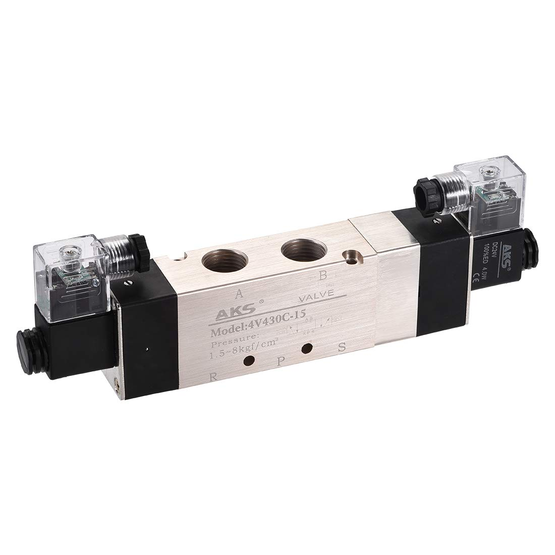 uxcell DC 12V 5 Way 3 Position 1//2 inchesPT Pneumatic Air Solenoid Valve,Double Electrical Control,Internally Piloted Acting Type,Green Light,4V430C-15