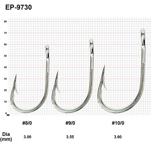 80Pcs Offset Sport Circle Fishing Hook High Carbon Steel Hook Size 7//0 8//0 9//0