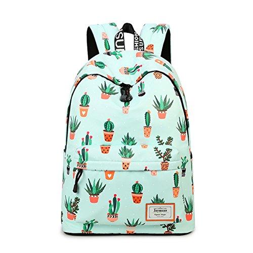 Joymoze Fashion Leisure Backpack for Girls Teenage School Backpack Women Print Backpack Purse Cactus 851