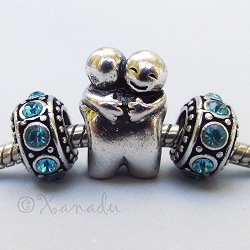 Birth Sampler Friends (OutletBestSelling Bracelet Hugging Friends European Charm Bead With Birthstone Spacers)