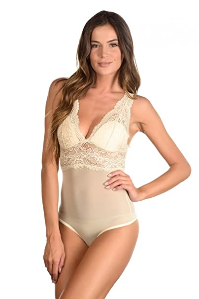 Just For Victoria - Body - para mujer beige S/M