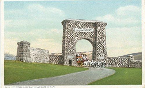 Historic Pictoric Postcard Print | Entrance Gateway, Yellowstone Park, 1903 | Vintage Fine ()