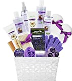 Deluxe XL Gourmet Gift Basket with Lavender & Coconut Oils. 20-Piece Luxury Spa Gift Set with Bath Bombs, Body Lotion, Bubble Bath & More! Huge Gift Set for Her, Holiday Gift or Thank You Gift