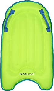 OMOUBOI Inflatable Boogie Boards for Beach Portable Bodyboard with Handles Lightweight Soft Body Boards for Kids Surfboards Pool Floats Boards for Surfing, Swimming, Water Fun