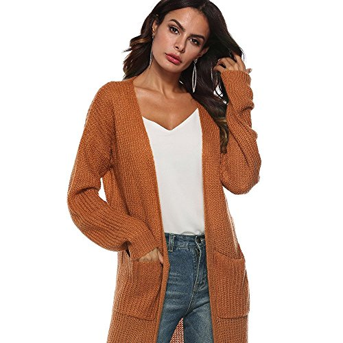 SMALLE ◕‿◕ Clearance, Women Autumn Long Sleeve Open Cape Casual Coat Blouse Kimono Jacket Cardigan by SMALLE (Image #3)