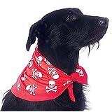 Rubies Costume Co Skulls and Bones Pet Bandana, Medium/Large, Red