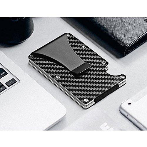 Slim Carbon Fibre Front Pocket Wallet, RFID BLOCKING Money Clip (Carbon Fibre-03) (Carbon Fibre-03) by teemzone (Image #6)