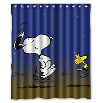 Peanuts Comics Snoopy And Woodstock Custom Shower Curtain 60quot