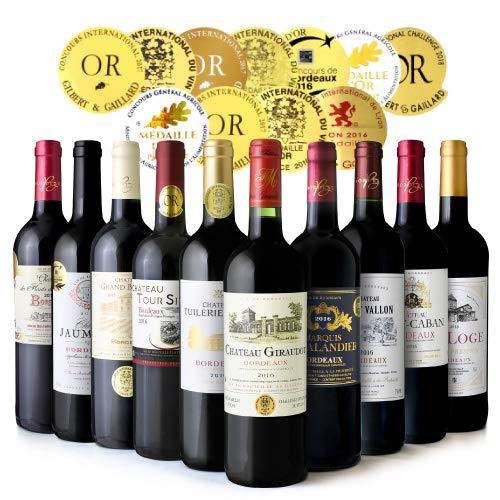 ◆第20弾 ボルドー満喫!金賞10本赤ワインセット(750ml×10本)[T]  B07QWL2Y73