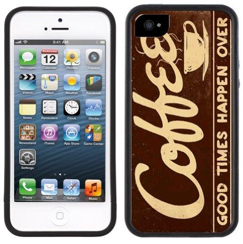 Kaffee Zeichen | Handgefertigt | iPhone 5 5 s | Schwarze Hülle |