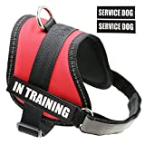 "Fairwin Dog Service Vest Harness for Service Dogs, Reflective Vest with ""IN TRAINING"" Patches for Large Medium Small Dogs"