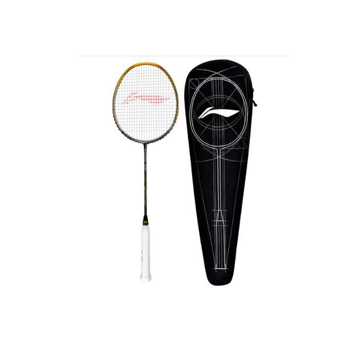 Tongboshi Badminton Racket, Single Shot, Male and Female, Adult, Beginner 3U, Full Carbon Attack and Defense, red (Threaded) Badminton Racket, (Edition : A6) by Tongboshi (Image #1)