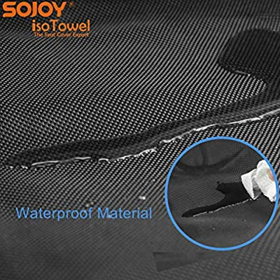 Sojoy Four Seasons Car Seat Cover - Microfiber Seat Protector with Quick-Dry, No-Slip Technology. Car Seat Protection from All Workouts, All-Weather (Black): Automotive