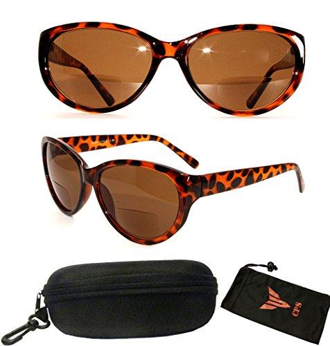 [1 Pair Colorful Designer Women Oval Shape Bifocal Sunglasses Reader Fashion Glasses (Strength: +2.75)] (Sun Reader)