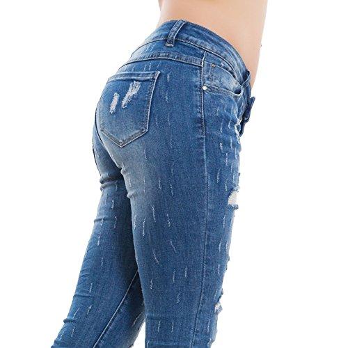 Mujer Skinny Toocool Vaqueros Turquesa Para q4tnagX