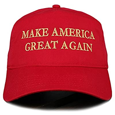 Make America Great Again Donald Trump METALLIC GOLD Embroidered Cap