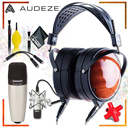 Audeze LCD-XC Closed-Back Planar Magnetic Headphones + Samson C01 Condenser Microphone + Headphone and Knuckel Signal Splitter + Cleaning Kit ()