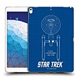 Official Star Trek USS Enterprise NCC-1701 Ships of The Line TOS Soft Gel Case Compatible for iPad Air (2019)