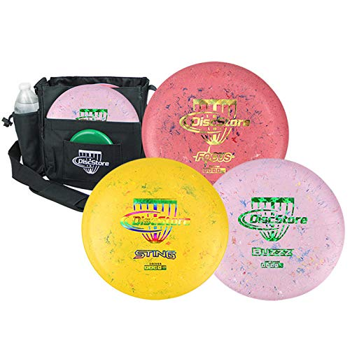 Discraft Jawbreaker Disc Golf Starter 3 Disc Pack - Assorted Colors - Plus Bag by Disc Store