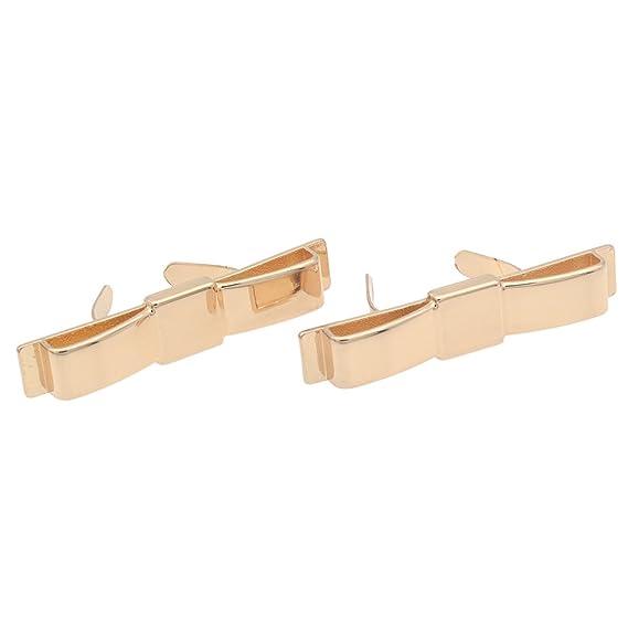 YNuth 2pz Clips Per Scarpe Forma di Fiocco Asportabile clip del pattino Elegante Decorazione Shoes Clips Nero 0ww0uY1