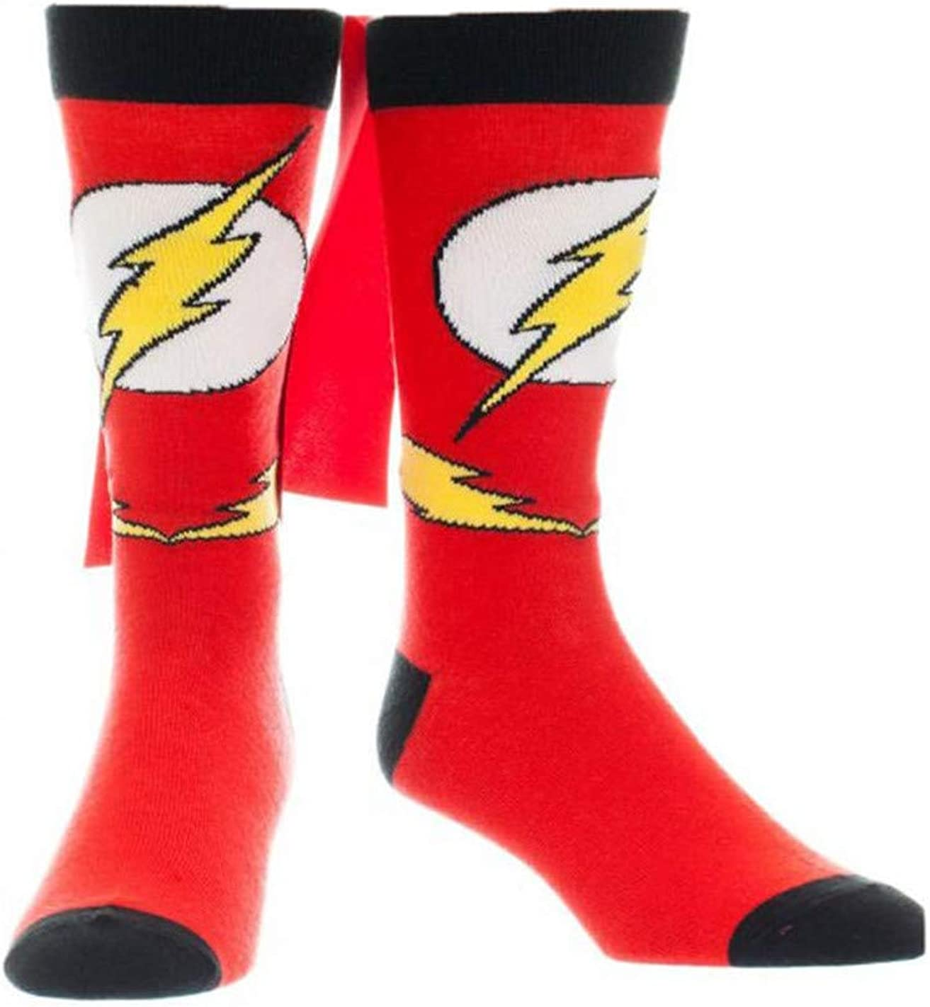 Flash Logo Caped Crew Socks - Sock Size: 10-13. Fits Shoe Size: 8-12