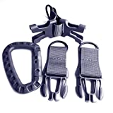 Toasis Nylon Webbing Tactical Key Ring Holder Quick Release Buckle Keychain Gear Molle Bag Attachments