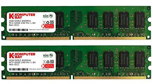 Komputerbay 8GB  DDR2 DIMM  800Mhz PC2 6400 PC2 6300 8 GB -