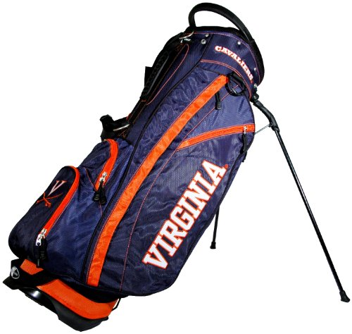 Team Golf NCAA Virginia Cavaliers Fairway Golf Stand Bag, Lightweight, 14-way Top, Spring Action Stand, Insulated Cooler Pocket, Padded Strap, Umbrella Holder & Removable Rain Hood