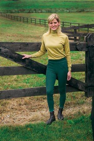 - TuffRider Women's Ribb Jods Knee Patch Breech, Grey, 24