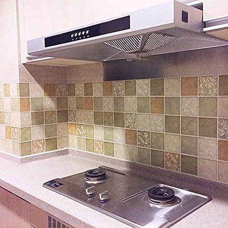 Kitchen Self Adhesive Pvc Desktop Waterproof 3d Wall Anti Oil