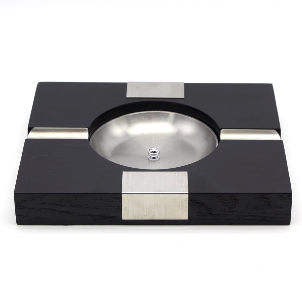 GALINER Cigar Ashtray, Solid Wood Body, Removable Ash Slot, 2ct Cigars Holder Large Size Table Ashtray for Cohiba Cigars and More by G galiner (Image #3)