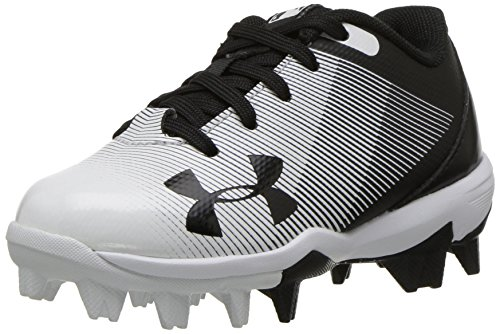 Under Armour Boys Leadoff Low Jr. RM Baseball Shoe, Black (011)/White, Toddler 10K US