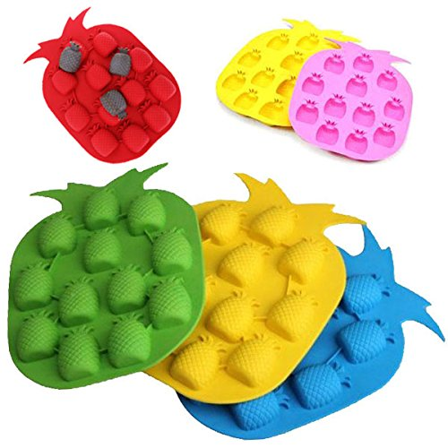 Multi-style DIY Ice Cube Tray Mould Chocolate Jelly Mold Random Color Shape:Pineapple