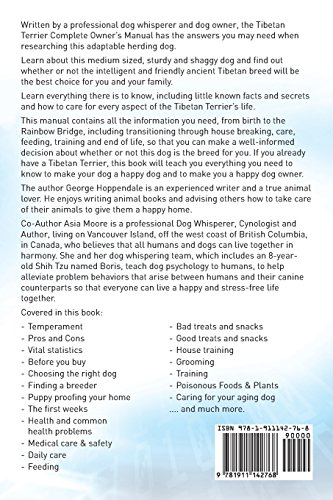 Tibetan Terrier. Tibetan Terrier Dog Complete Owners Manual. Tibetan Terrier book for care, costs, feeding, grooming, health and training. 2