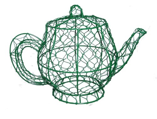 Teapot 10 inches high x 13 inches long x 8 inches wide Topiary Frame, Handmade Animal Decoration