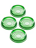 House of Antique Hardware R-08SE-0700453 Set of 4 Glass Furniture Caster Cups - 3'' Diameter In Green Glass