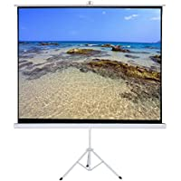 Varmax Foldable Projector Screen with Tripod Stand, 84 Inch 4:3 Projection Screen